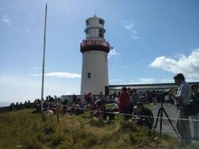 Whale watchers at Galley Head in West Cork