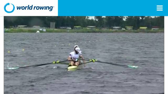 Paul O'Donovan flips the stroke coach back in the boat