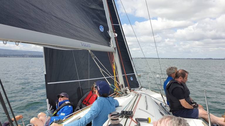 Light air sail set-up session on the Beneteau 31.7 After you Too on Dublin Bay in July 2020
