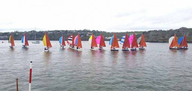 A big fleet of Squibs for last year's KYC Frostbite Series