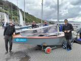 Moville's McGuinness brothers with Sligo's Keith Louden and Alan Thomson in a relaxed mood at the GP14 British Nationals in Looe