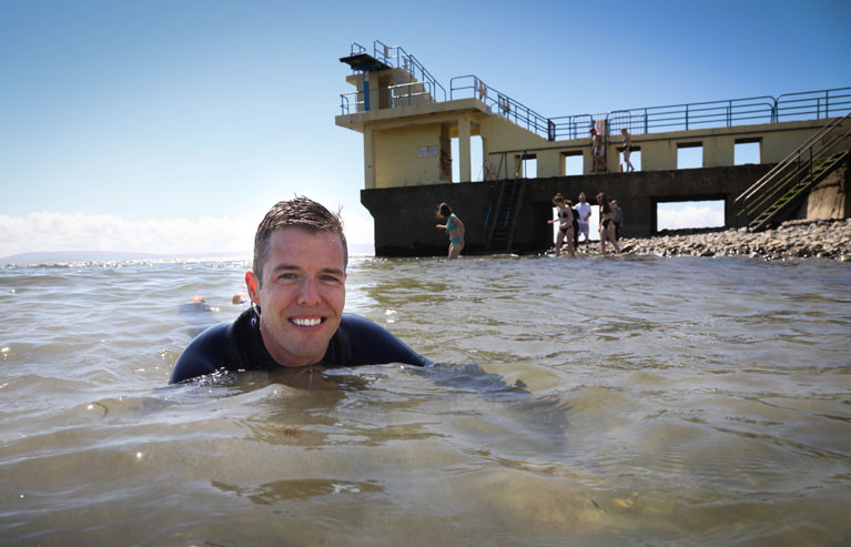 Dr Liam Burke, NUIG Co-Investigator on the PIER project at Blackrock in Salthill, Galway City