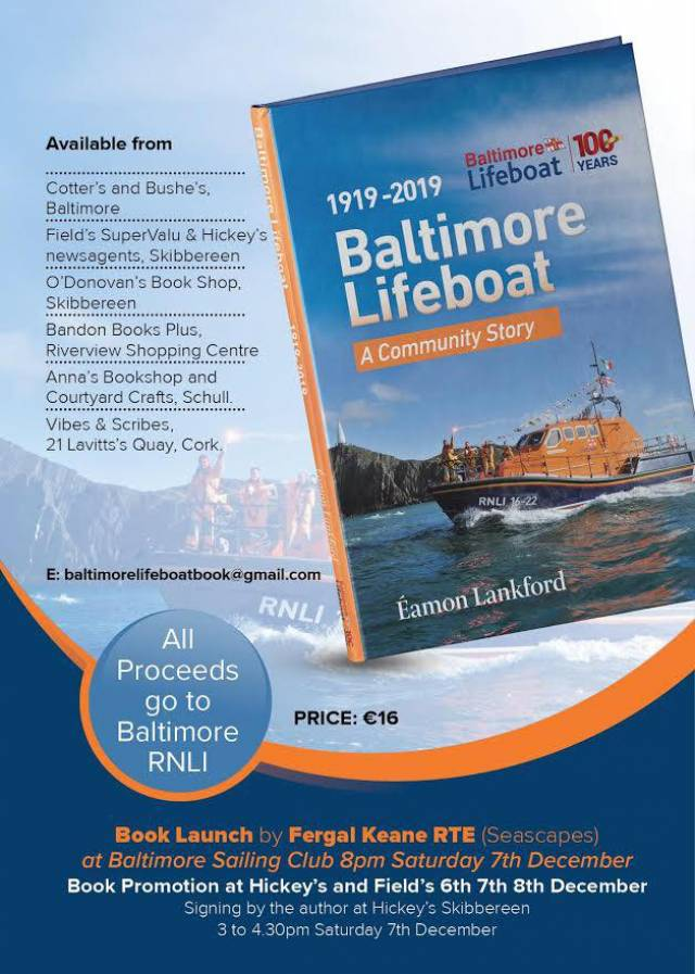 Book Launch For Story Of Baltimore's Lifeboat Next Saturday