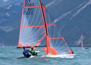Atlee Kohl and Chris Bateman in action on Lake Garda