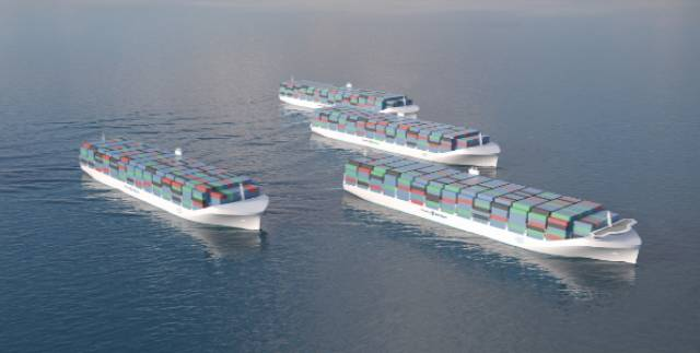 The global autonomous shipping industry is predicted to grow into a $136 billion behemoth by 2030. Above an artist's impression of autonomous ships of the future