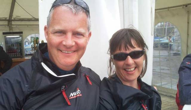 Race two winners in the DBSC Flying Fifteen series Niall and Nikki Meagher