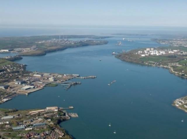 The Pembrokeshire Port of Milford Haven, south Wales
