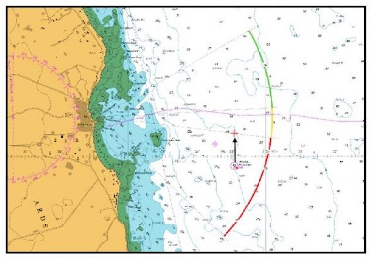 The new position of the Skulmartin Buoy off County Diown