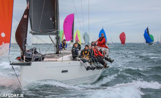 George Sisk's XP44 Wow at the start of the Dun Laoghaire Dingle Race
