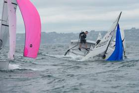 Thrills 'n'spills in the RS200 class at Dinghy Fest. Scroll down for a gallery of images