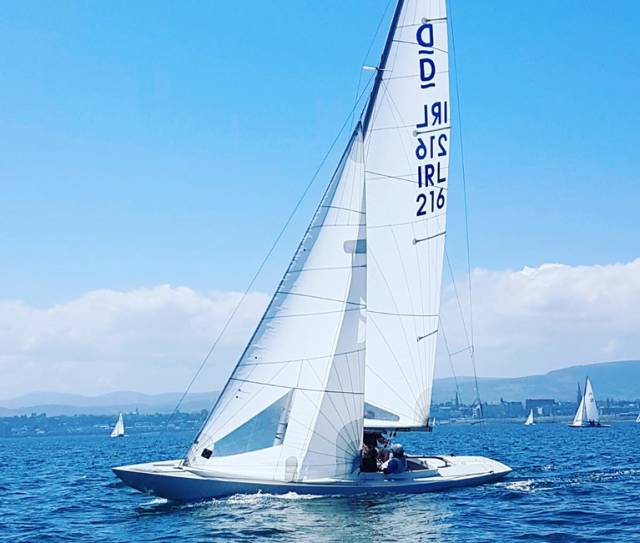 Martin Byrne's Dragon Jaguar is sailing with his son Conor and Portuguese professional Pedro Andrade at the Edinburgh Cup in Cowes next month