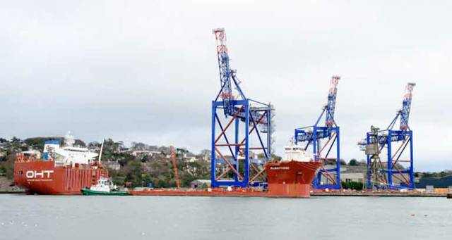 New Images Of Massive Cranes Loading Onto Ship In Cork Harbour