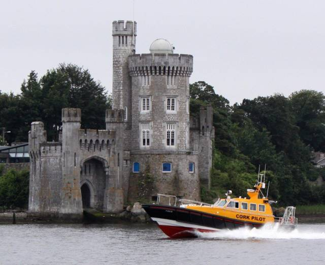 Blackrock Castle - this weekend a fleet of boats sails up the River Lee from Cobh to moor at the uppermost navigable point of the river