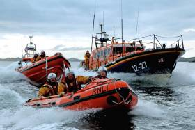 Clifden RNLI's all-weather and inshore lifeboats