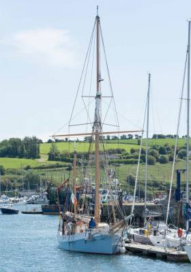 The ketch Ilen's regular training berth in Kinsale has welcomed her back to Ireland from Greenland