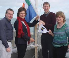Pictured at Greystones Sailing Club are from left to right: Steven Waller, Hon. Treasurer  Daphne Hoolahan, Commodore  Barry Keogh, Vice Commodore  Gabrielle Igoe, Hon. Secretary