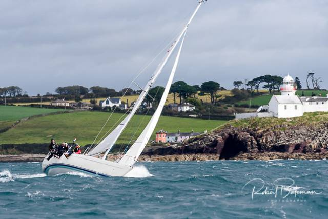 Heavy weather sailing off Roches Point in today's second race of the RCYC Autumn League. Scroll down for photo gallery