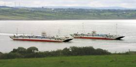 The pair of half-sister car ferries that operate Ireland's longest river crossing