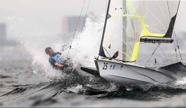 Ryan Seaton and Seafra Guilfoyle on their way to tenth overall at Enoshima, round one of the 2020 World Cup Series in Japan