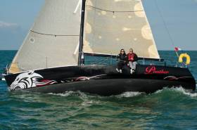 Winning a tough IRC Two-Handed Class and second overall under IRC was Yvonne Beusker & Eric Van Vuuren's J/105 Panther.