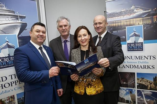 Announcing the launch of Cruise Dublin, the new Cruise Tourism Development Agency established by Dublin Port Company to develop Dublin as Ireland's premier port of choice for cruise were: Pat Ward, Head of Corporate Services at Dublin Port, Jim Keogan, Assistant CEO at Dublin City Council, Brid O'Connell from 'Welcome Marketing', and Eamonn O'Reilly, CEO, Dublin Port Company.