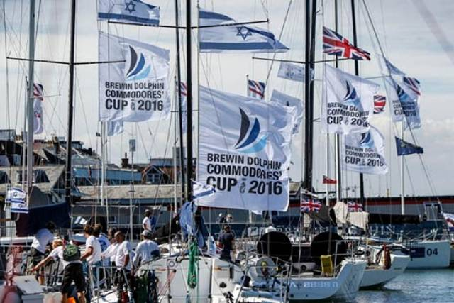 Teams ready for the start of the 2016 Brewin Dolphin Commodores' Cup this morning