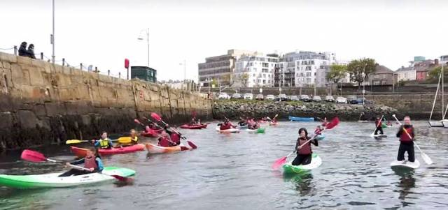 Afloat in Dun Laoghaire - the INSS open day had a variety of different craft in use