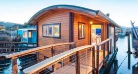 Houseboats like this one in California could comprise a cluster of 'floating homes' in Dun Laoghaire by late next year