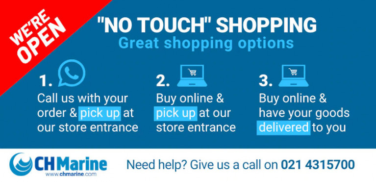 Working On Your Boat? CH Marine Offers 'No Touch' Shopping With Great Boat Care Selection