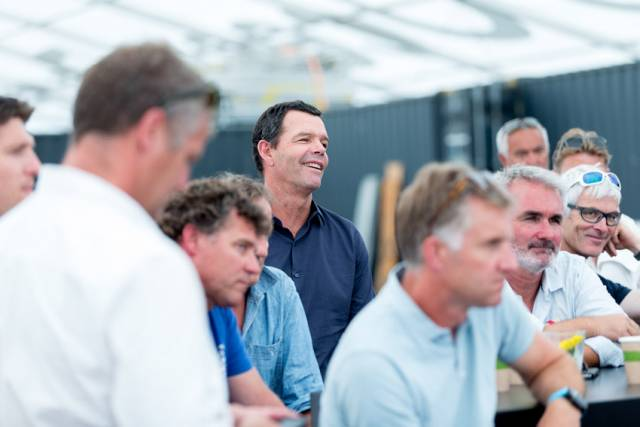 Interested parties had a chance to learn more about the new VOR/IMOCA partnership during the Volvo Open Race finish in The Hague