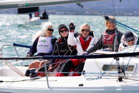 HYC 2 skippered by Jenny O'Leary representing the Howth Yacht Club competing in the SportboatsJ80 at the Irish Sailing Pathfinder Women at the Helm 2019 regatta hosted by the National Yacht Club.