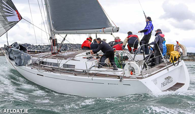 Nieulargo (Denis & Annamarie Murphy) at the start of the Fastnet 450 Race