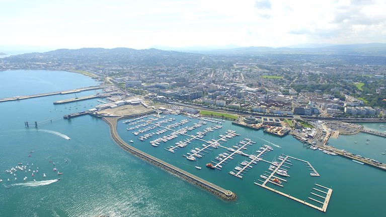 Dun Laoghaire Harbour on Dublin Bay is Ireland's largest boating centre with capacity for over 800 boats in the town marina