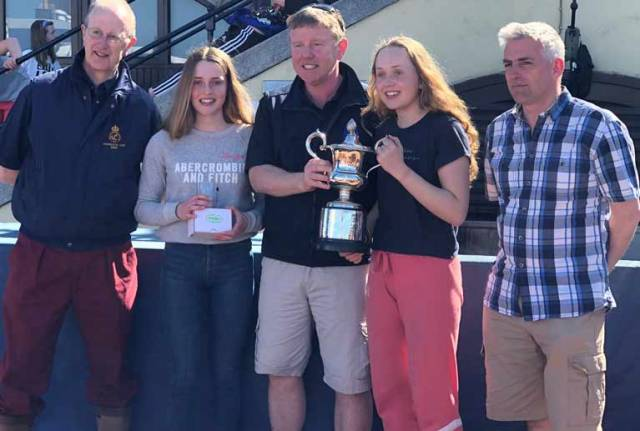 Nicola and Fiona Ferguson of the National Yacht Club are the 420 Leinster Champions