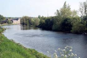 The River Barrow at Bagenalstown, Co Carlow