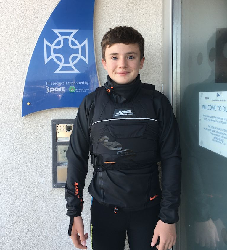 County Antrim Yacht Club Junior Sailor Awarded New Boat by John Merricks Sailing Trust