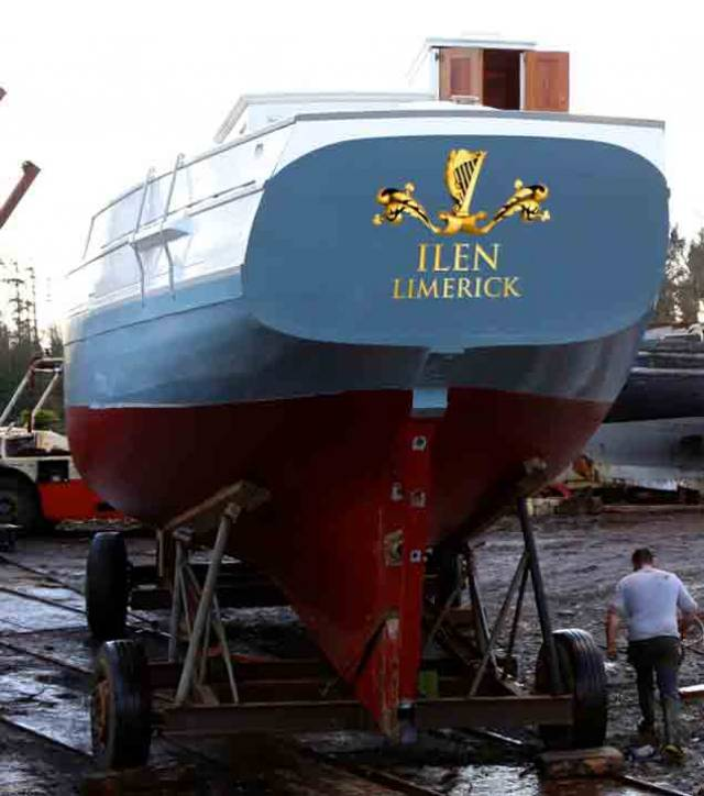 With new projects under way for the development of Limerick Docks, it was timely to post a reminder that this will be Ilen's home port