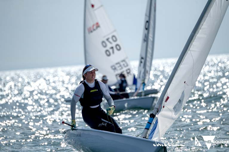 Annalise Murphy competing in the Laser Radial Worlds in Melbourne