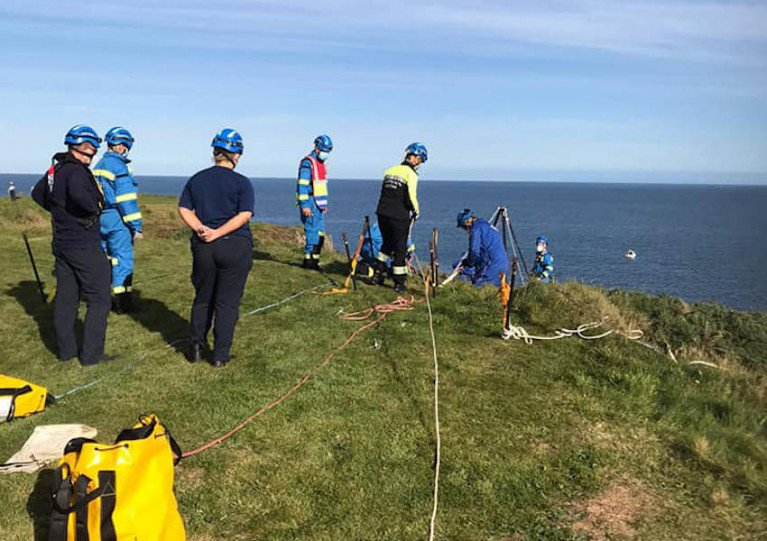 Young Girl Rescued In Co Down Coastal Cliff Fall Drama
