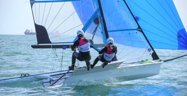 Annalise Murphy and Katie Tingle who will compete in next year's World Cup Series