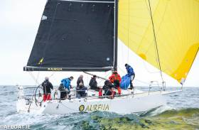 Chris Power Smith's Aurelia from Dun Laoghaire took overall victory in the Midnight race from Liverpool to Douglas