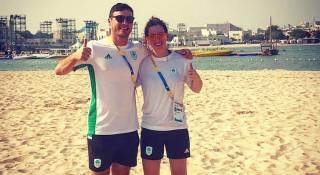 David O'Caoimh and Nicole Carroll at the ANOC World Beach Games
