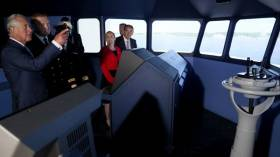 Prince Charles at the NMCI's simulator in Ringaskiddy where nearby is the Irish Naval Base, also where the historic visit was made in Cork Harbour