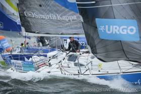 Tom Dolan competing in the Solitaire du Figaro 2018 race.
