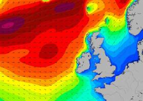 Severe windy weather approaching Ireland's North West on Wednesday 21 December