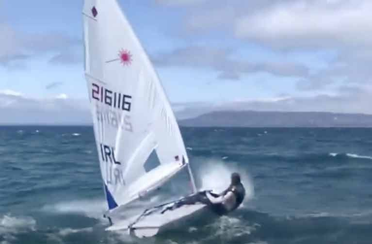 Howth's Eve McMahon shows off her sailing Laser Radial technique in the video below