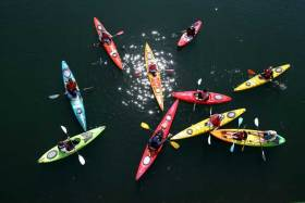 Canoes and Kayakers at Seafest