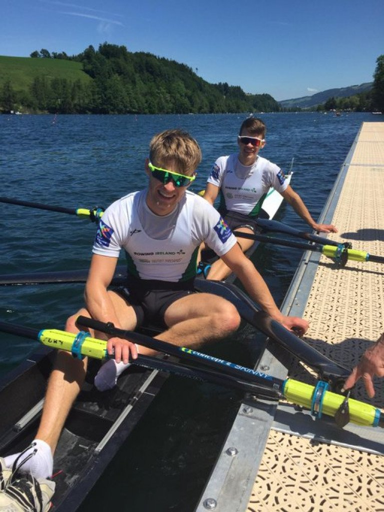 Jake and Fintan McCarthy in Lucerne in 2019