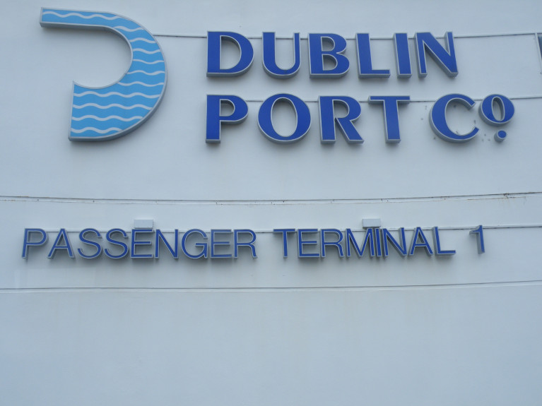 Opposition calls to introduce mandatory hotel quarantine for all arrivals into the country's ports and airports. Above close up of the main terminal (No.1) building in Dublin Port.