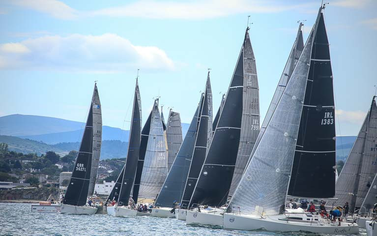 A Class One start at the 2017 Dun Laoghaire Regatta on Dublin Bay